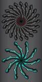 Abstract industrieel symmetrycal wiel Royalty-vrije Stock Foto