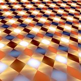 Abstract Infinite Glowing Tiles - Bright Brown Stock Photo