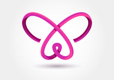 Abstract infinity butterfly symbol. Vector logo template. Design Stock Photography