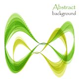 Abstract infinity green and yellow waves. On a white background vector illustration