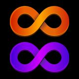 Abstract infinity orange and blue sign Royalty Free Stock Photo