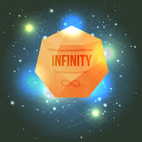 Abstract Infinity Stone In Deep Space Illustration Royalty Free Stock Photo