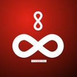 Abstract infinity symbols Stock Photo