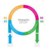 Abstract info-graphic in a circle shape. Royalty Free Stock Photos