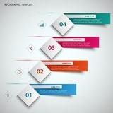 Abstract info graphic with design cube and labels template Royalty Free Illustration