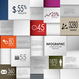 Abstract info graphic square element poster template Stock Photos
