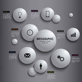Abstract info graphic white round element poster t Royalty Free Stock Images