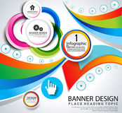 Abstract infographic banner background Stock Photo