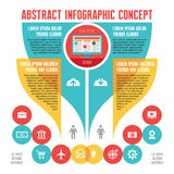 Abstract infographic Bedrijfsconcept met Pictogrammen in Vlakke Ontwerpstijl Royalty-vrije Stock Fotografie