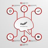Abstract infographic in the center of the brain. Design elements. Royalty Free Stock Photo
