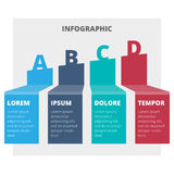 Abstract infographic chart Stock Photo