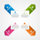 Abstract infographic with colorful arrows. Vector illustration Stock Images