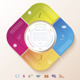 Abstract infographic design with circle and four segments Royalty Free Stock Images