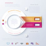 Abstract infographic design with circle, ribbons Stock Photos