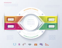 Abstract infographic design with circle, ribbons. Royalty Free Stock Photos