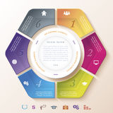 Abstract infographic design with circle and six segments Royalty Free Stock Photography
