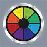Abstract infographic design with color wheel Stock Photos