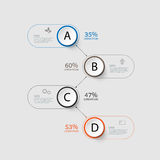 Abstract Infographic design on the grey background. Royalty Free Stock Photos