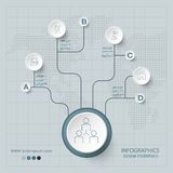 Abstract Infographic design on the grey background. Royalty Free Stock Photo
