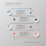 Abstract Infographic design on the grey background. Vector illus. Tration can be used for workflow layout, diagram, number options, web design Stock Photography