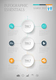 Abstract Infographic design on the grey background. Vector illustration can be used for workflow layout, diagram, number options, web design Stock Image