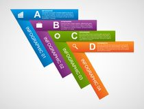 Abstract infographic design template in the form of arrows. Royalty Free Stock Photo