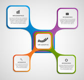 Abstract infographic design template in the square form. Stock Image