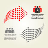 Abstract infographic with dots arrows. Vector Stock Photography