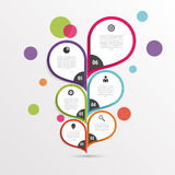 Abstract infographic flower template. Colorful. Vector Royalty Free Stock Image
