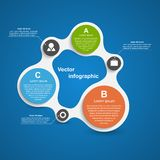 Abstract infographic in the form of metabolic. Design elements. Vector illustration Royalty Free Stock Photography