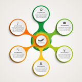Abstract infographic in the form of metabolic. Design elements. Royalty Free Stock Photo