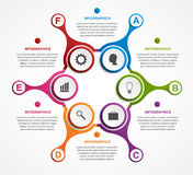 Abstract infographic in the form of metabolic. Design elements. Stock Photos