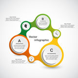Abstract infographic in the form of metabolic. Design elements. Royalty Free Stock Photos