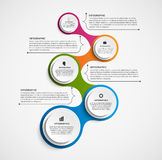 Abstract infographic in the form of metabolic. Design elements. Stock Photography