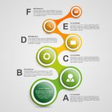 Abstract infographic in the form of metabolic. Design elements. Royalty Free Stock Photography