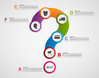 Abstract infographic in the form of question mark. Store payment plan. Design elements. Royalty Free Stock Image