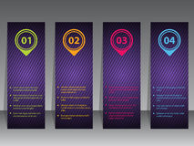 Abstract infographic label set Royalty Free Stock Photo