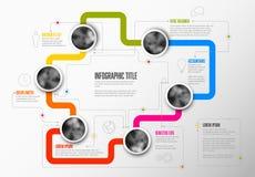 Abstract infographic malplaatje Royalty-vrije Stock Fotografie