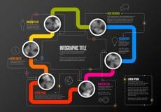 Abstract infographic malplaatje Stock Foto
