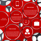 Abstract infographic. Modern design template Stock Photography