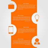 Abstract infographic. Modern design template Royalty Free Stock Photo