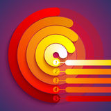 Abstract infographic red, orange and yellow 3d Royalty Free Stock Image
