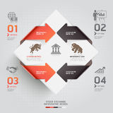 Abstract infographic stock exchange template. Stock Photo