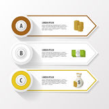 Abstract infographic template for business design, three options. Vector Stock Photos