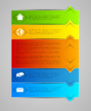 Abstract infographic template Royalty Free Stock Image