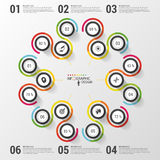 Abstract Infographic Template. Colorful modern design. Vector illustration Royalty Free Stock Photos