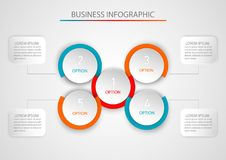 Abstract infographic template with a five steps. Infographics template for business, web design, banners, brochures. Abstract infographic template with a five Stock Photography