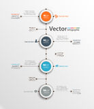 Abstract  infographic template with four  steps for success. Business circle template with options for  diagram, workflow, timeline, web design. Vector Royalty Free Stock Photography