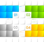 Abstract infographic template squares Stock Photos