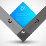 Abstract infographic template squares Stock Image